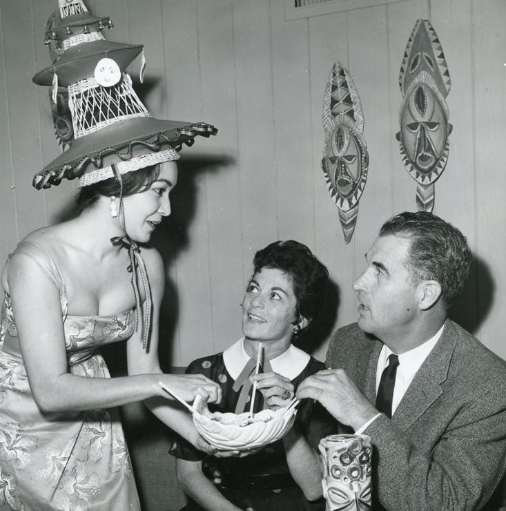 Tiki-style, Hawaiian dress was the all the talk in the 1960s