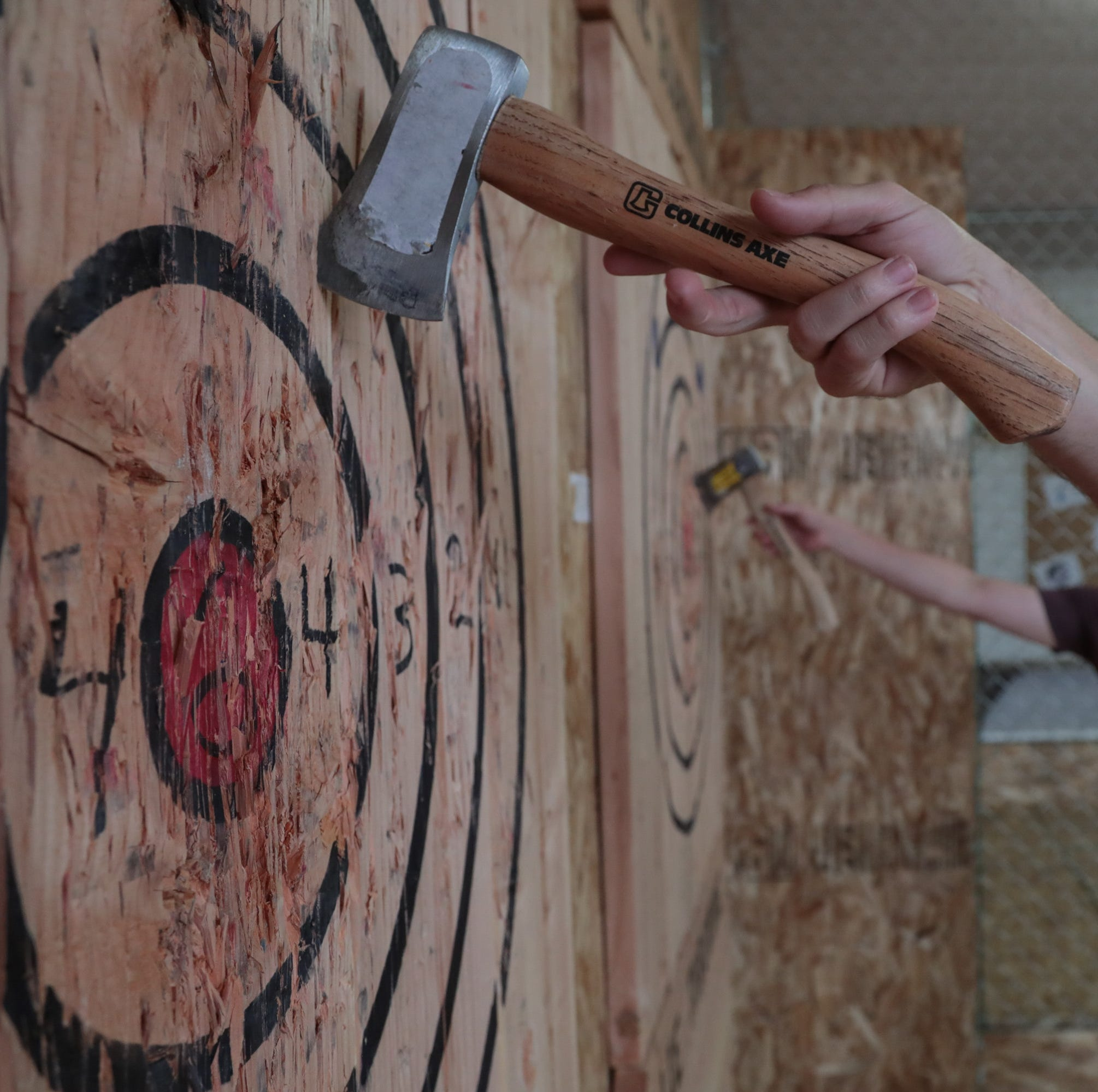 They've been axed: Twentynine Palms couple opens ax-throwing shop near Joshua Tree National Park
