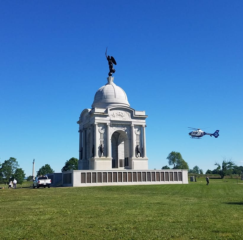 Boy airlifted to hospital after falling from Pennsylvania monument in Gettysburg