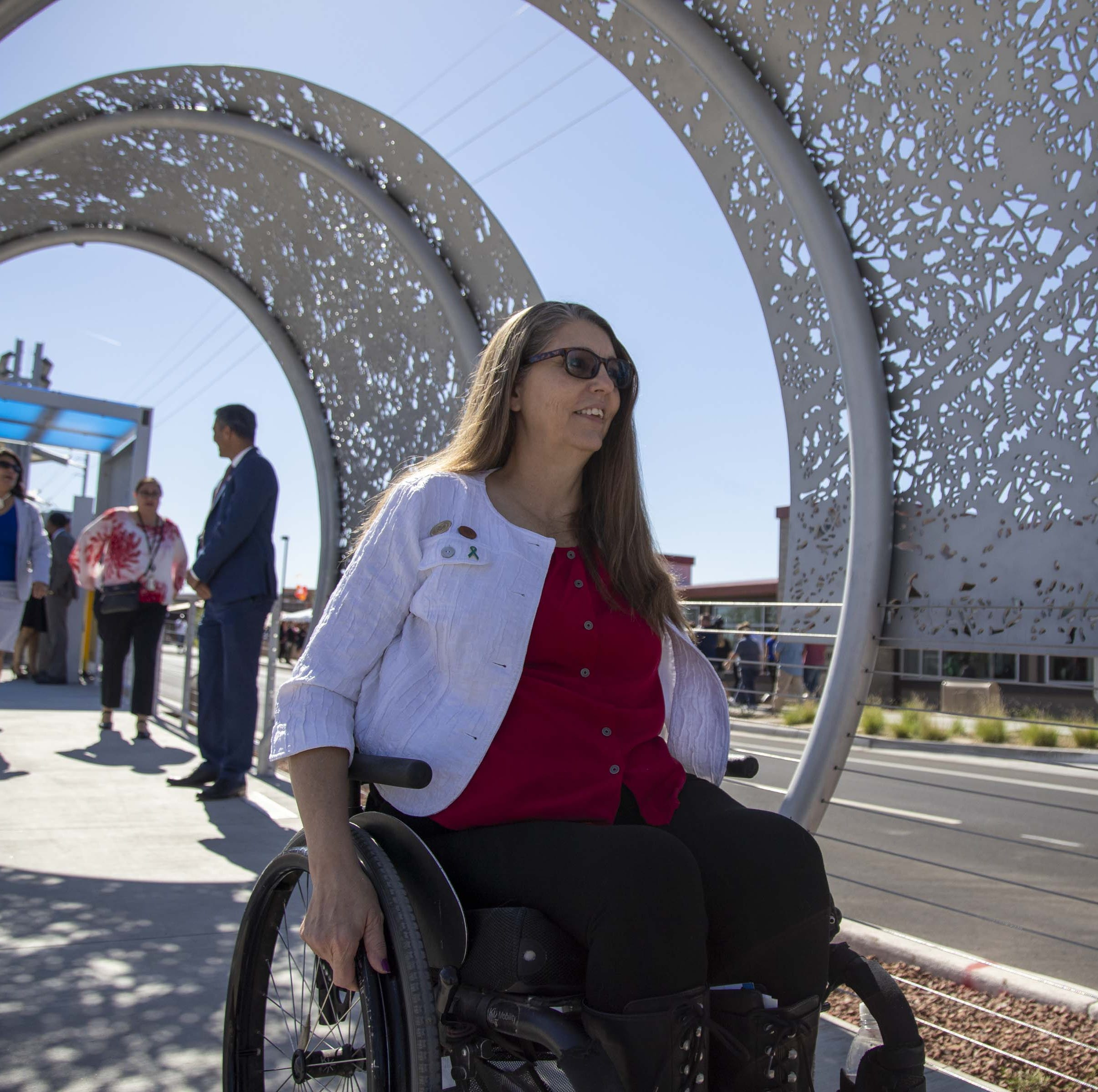 Arizona lawmaker who uses wheelchair rolls home after Legislature goes into wee hours