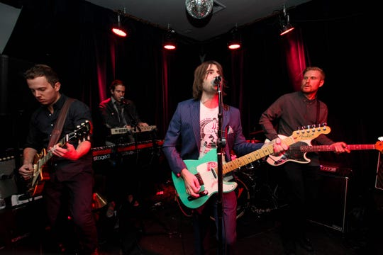 Robert Schwartzman and his band Rooney perform at the Tribeca Film Festival After Party For Dreamland At Berlin on April 14, 2016 in New York City.