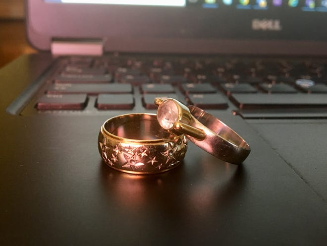 I wear these two rings always, one from each of my parents.