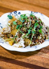 This is the Hoppin John dish from The Larder + The Delta.