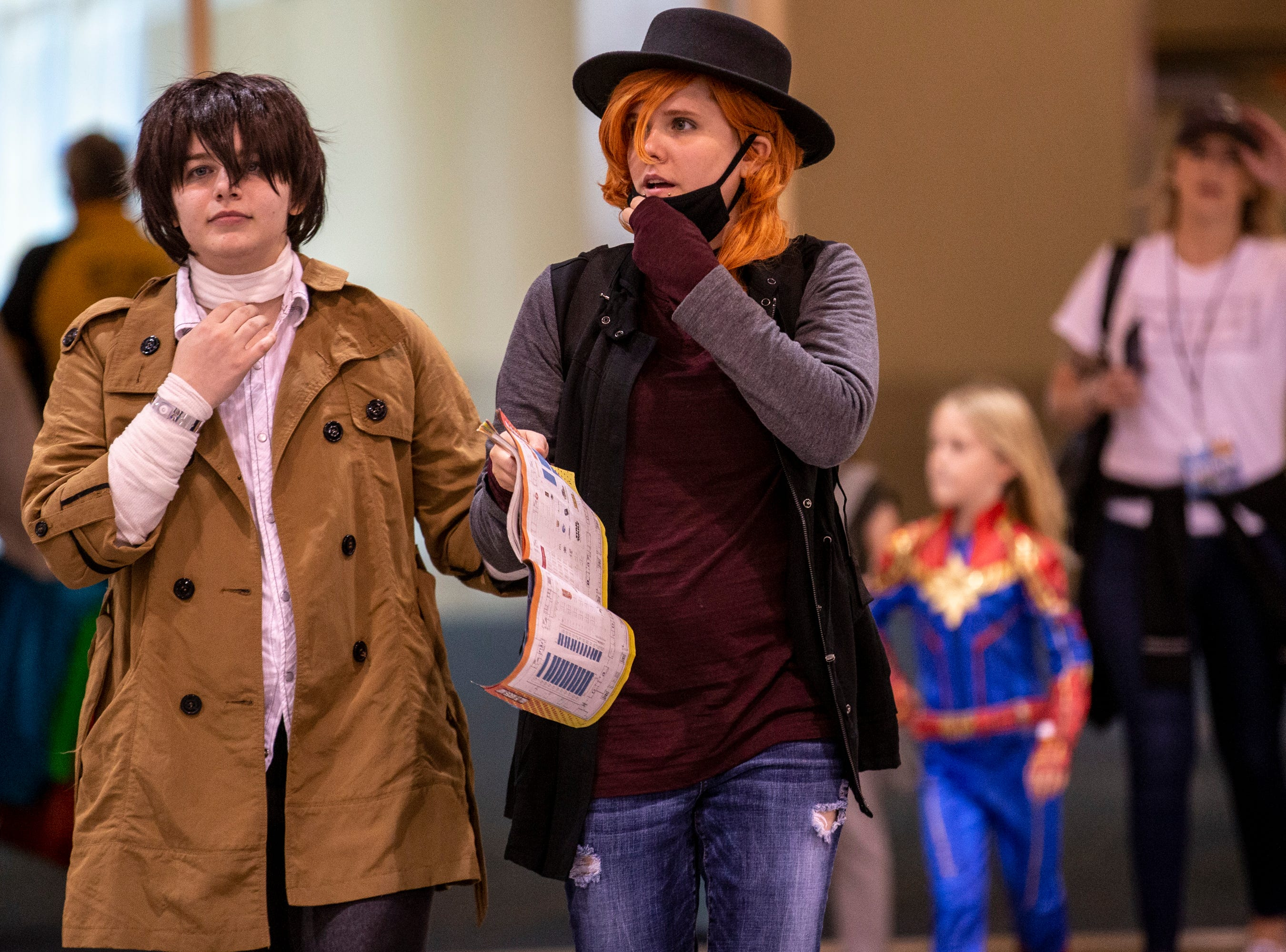 Ashley Mirablie (left) and Mary Farnsworth walk around during Day 1 of Phoenix Fan Fusion on May 23, 2019, at the Phoenix Convention Center.