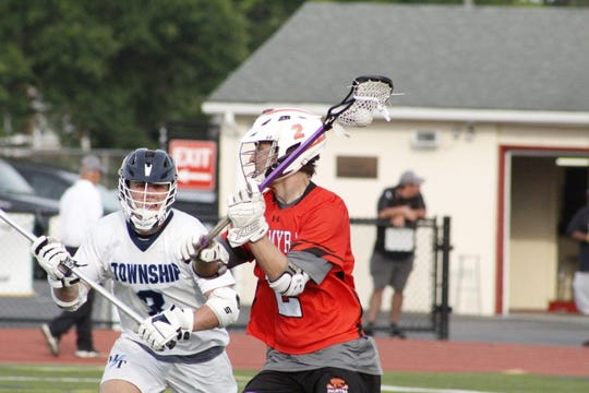 Grant Haus (2) avoids a Township player.
