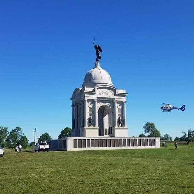 A 13-year-old boy from Fort Wayne, Indiana, plummented from the observation deck of the Pennsylvania Monument in Gettysburg National Military Park on May 24, 2019, a park official said.
