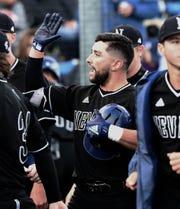 Nevada started off against Fresno with a home run by designated hitter Kaleb Foster in the 2019 Mountain West Baseball Championship at Peccole Park on Thursday May 23, 2019.