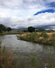 Looking over the Walker River toward the park visitor center.