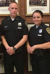 Officer Kevin Kouns and Officer Seara Burton graduated May 18 from the Indiana Law Enforcement Academy.