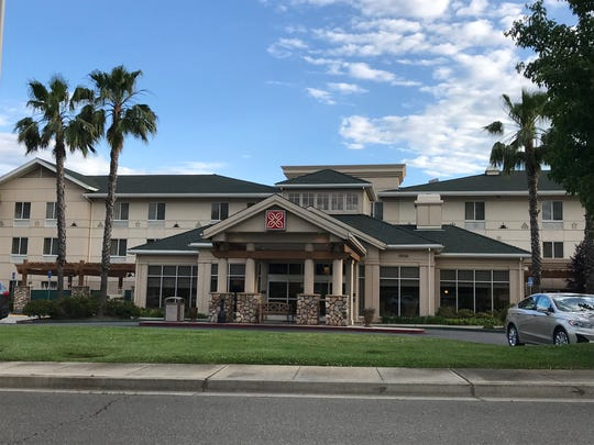 Hilton Garden Inn Redding, owned by the Redding Rancheria. Located just north of Strawberry Fields on Bechelli Lane.
