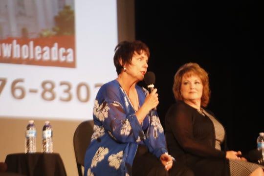 Redding Mayor Julie Winter speaks at leadership event