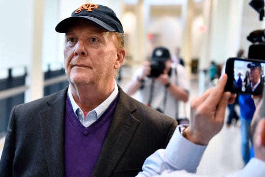 Chef Mario Batali arrives for arraignment, Friday, May 24, 2019