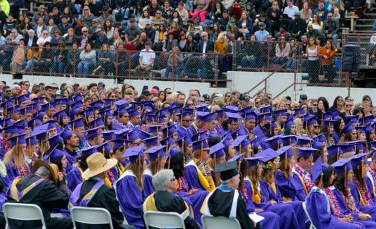 Graduation ceremonies that pack football stadiums in Salinas could be threatened by closures over COVID-19.