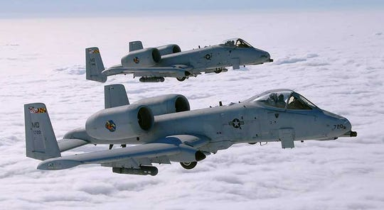 Two A-10 Warthog Thunderbolts from the 175th Wing of the Maryland Air National Guard will do flyovers at the OC Air Show June 15-16.