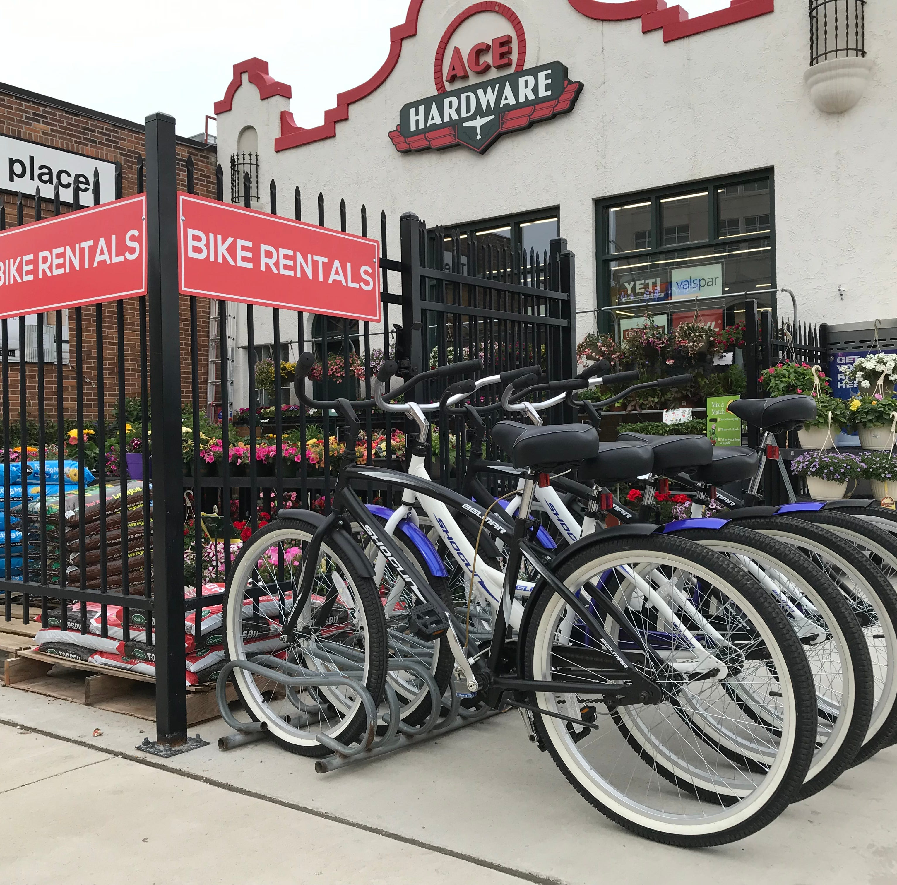 Nyberg's Ace store in downtown Sioux Falls offers bike rentals