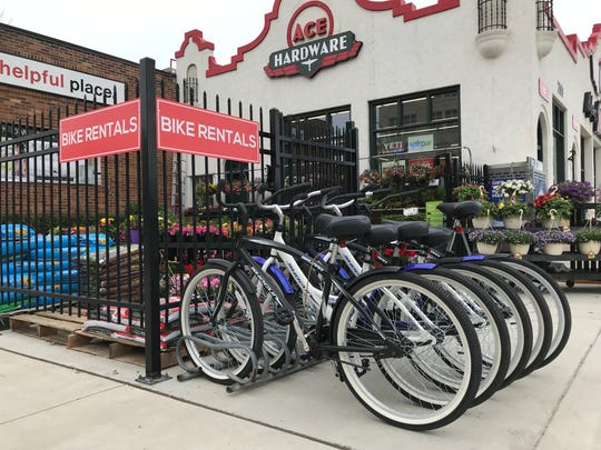 Bike rentals at Nyberg's Ace in downtown Sioux Falls, located at 200 E. 12th St.