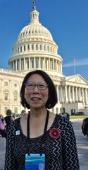 Susie Osaki Holm of St. Cloud poses for a photo on a lobbying trip to the Capitol in Washington D.C.