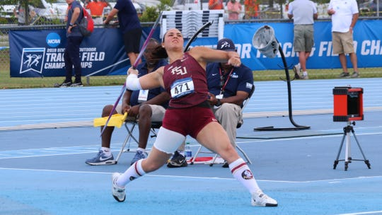 FSU's Lauri Paredes at the NCAA qualifying championships.