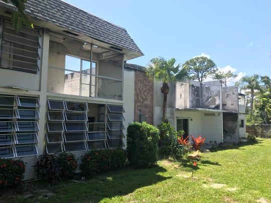 Cedar Pointe Village condo about one year after fire