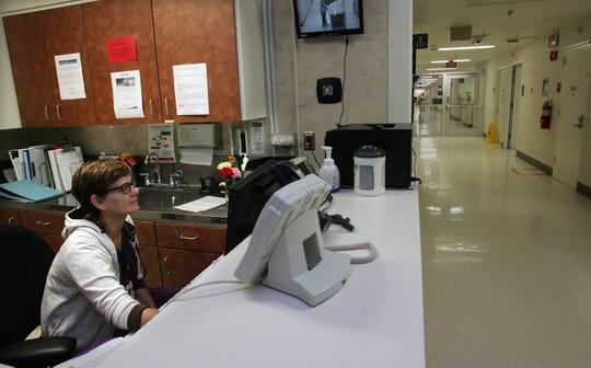 Registered nurse Noreen Evans works in the obstetrics unit of Santa Paula Hospital.