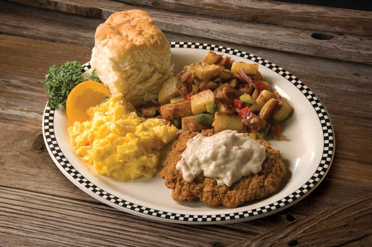 Dishes at Black Bear Diner include chicken fried steak and eggs served with a house-made biscuit. The chain's first Ventura County location will open May 28 in Simi Valley.
