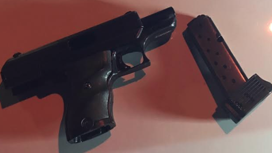 Oxnard police said they found this gun in a car after they stopped Jose Dimas.