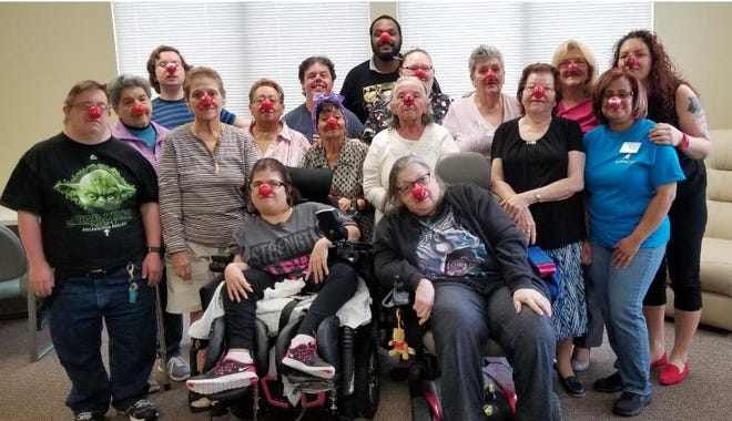 VINELAND - Staff and members of Active Day of Vineland joined in the campaign and the fun of Red Nose Day, a campaign with a mission to end child poverty by funding programs that keep children safe, healthy and educated. Participants simply buy a red nose from Walgreens, wear it and then share a laugh and a smile! For information on Active Day, visit ActiveDay.com.