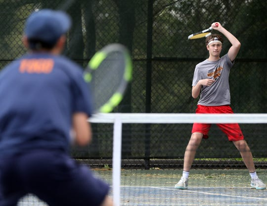 Section 1 boys tennis singles and doubles semifinals at Edgemont High School in Scarsdale May 24, 2019.