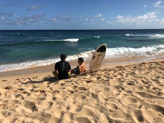 Sandy Beach, on Oahu's south shore, is a popular bodyboarding spot for its shorebreak.