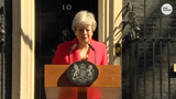 British Prime Minister Theresa May held back tears as she announced her resignation as leader of the Conservative Party amid Brexit fallout.