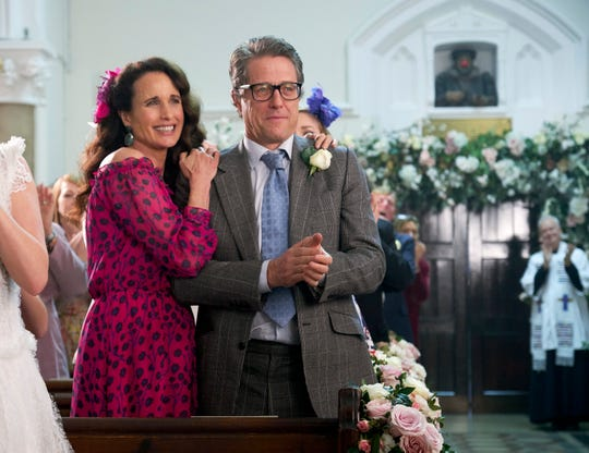 "Carrie (Andie MacDowell) and Charles (Hugh Grant) are still together in ""One Red Nose Day and a Wedding."""