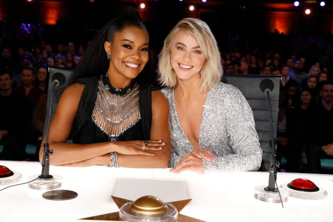 Gabrielle Union, left, and Julianne Hough are the new judges for Season 14 of NBC's 'America's Got Talent,' taking over the seats held by Mel B and Heidi Klum.