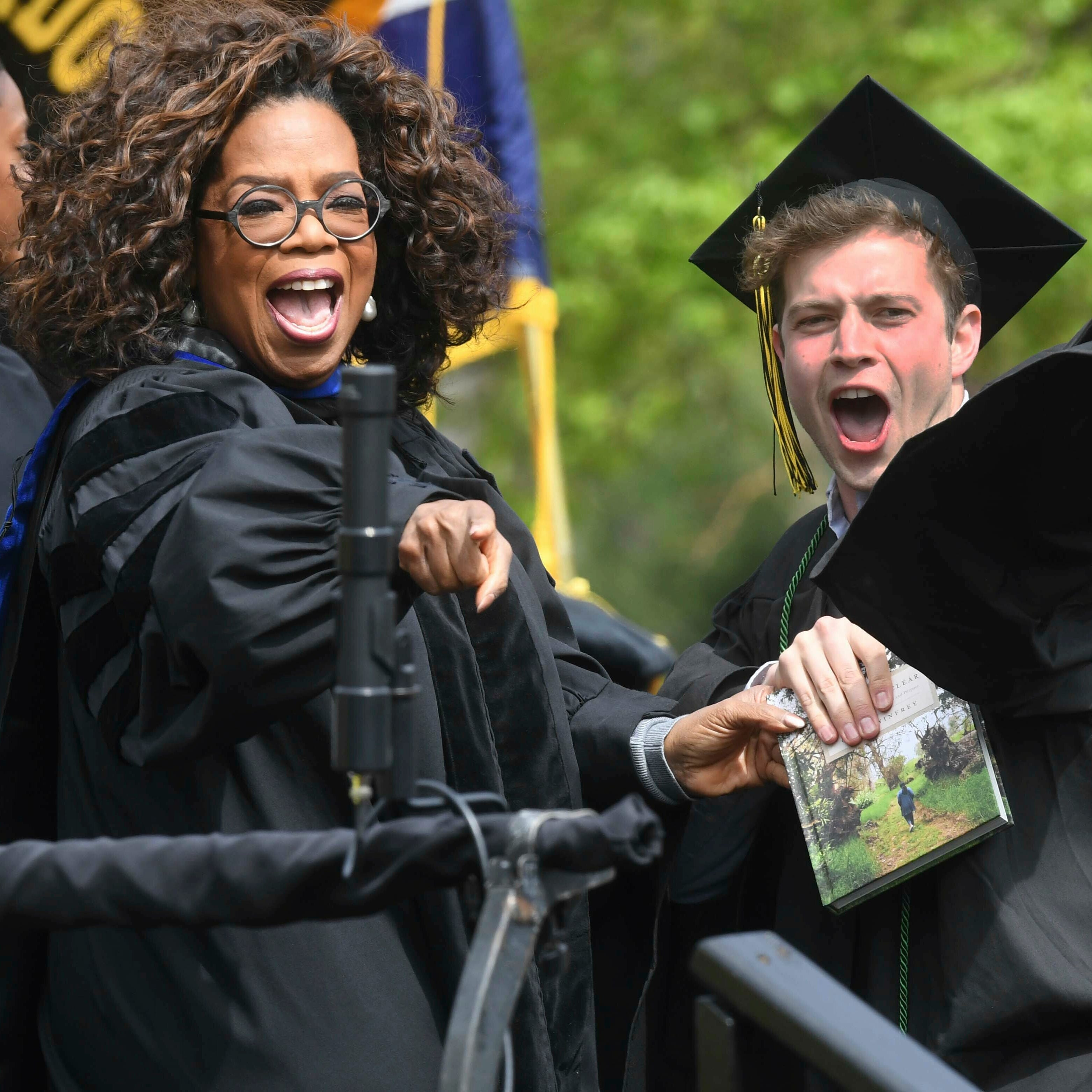 Commencement speaker Oprah Winfrey at Colorado College in Colorado Springs on May 19, 2019.