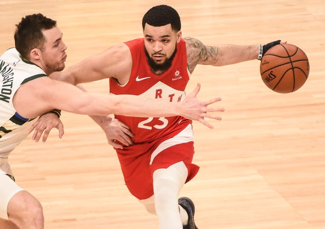Fred VanVleet scored 21 points and hit seven 3s in the Raptors' Game 5 win.