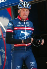 Lance Armstrong shown with the U.S. Postal Service team in 2004.