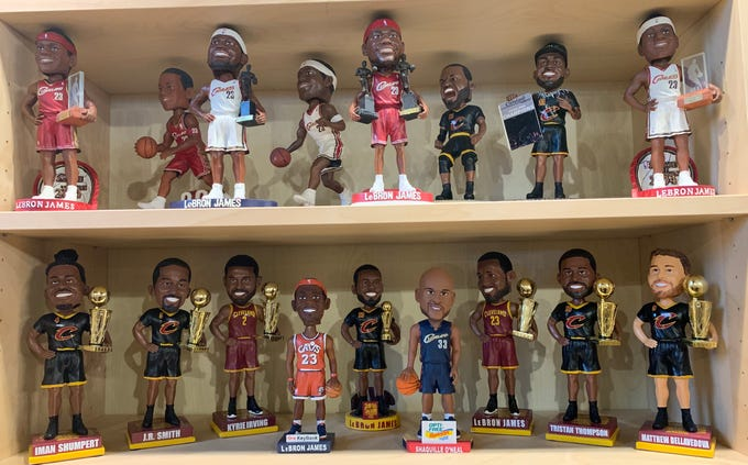 Display of bobbleheads at the National Bobblehead Hall of Fame and Museum in Milwaukee.