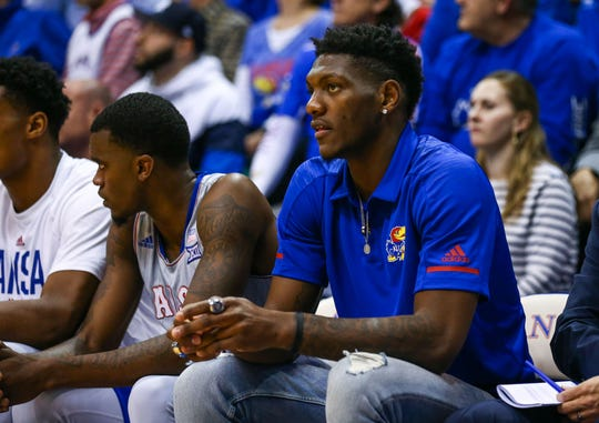 Kansas Jayhawks forward Silvio De Sousa during a 2018 game.