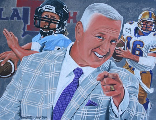 Matt Dunigan's official Louisiana Sports Hall of Fame portrait is shown.