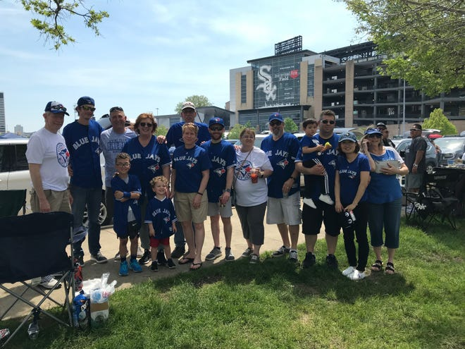 Danny Jansen's family and friends gathered outside Guaranteed Rate Field in Chicago last weekend to tailgate before the Toronto Blue Jays took on the Chicago White Sox.