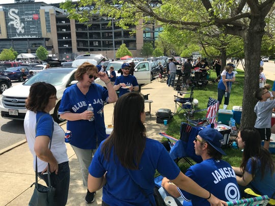 Jansen family tailgate outside Guaranteed Rate Field in Chicago