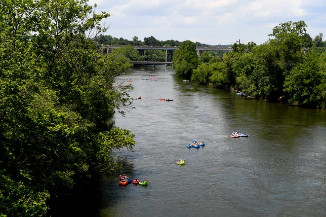 E. Coli levels have been higher than usual in the French Broad River in recent weeks, but that is driven more by agricultural uses nearby and stirred up sediment rather than homeless encampments, according to the Riverkeeper Hartwell Carson.
