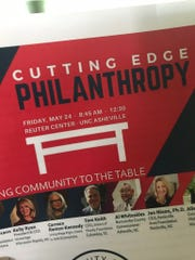 A program from the May 24 Cutting Edge Philanthropy forum hosted by the WNC Health Equity Coalition at UNC Asheville.