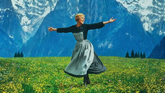 "Julie Andrews makes the hills come alive in the 1965 classic ""The Sound of Music,"" which screens June 2 at the Admiral Theatre."