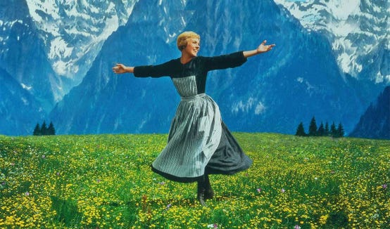 """Julie Andrews makes the hills come alive in the 1965 classic """"The Sound of Music,"""" which screens June 2 at the Admiral Theatre."""