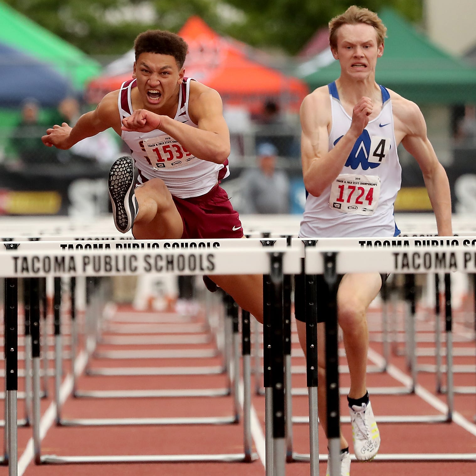 South Kitsap's Davis chases down hurdles title