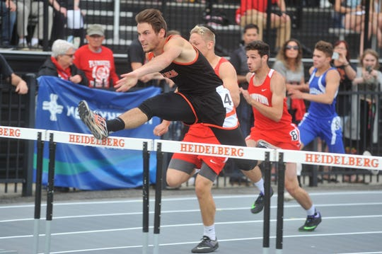 Lucas senior Danny Desterhaft was a champion in the 110 hurdles and runner-up in the 300 hurdles in the Division III regional track and field meet in Tiffin.