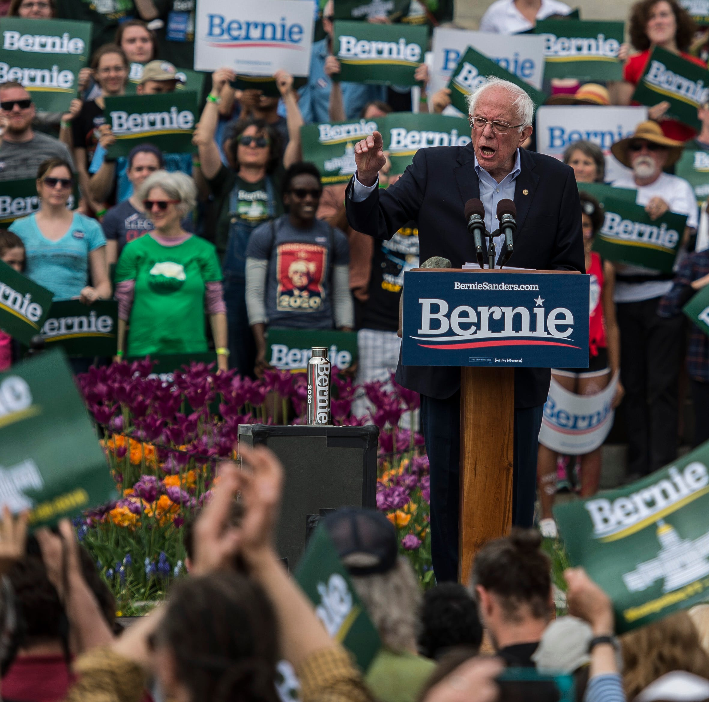 In Vermont, Bernie Sanders draws a smaller crowd to hear a bigger message