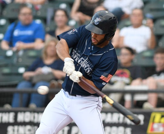 The Corpus Christi Hooks face the Frisco Rough Riders, Friday, May 24, 2019, at Whataburger Field.