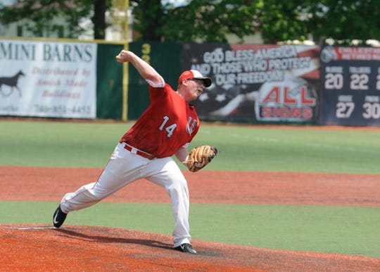 Westfall baseball's Eric Corzatt was the winning pitcher, throwing a complete game and allowed one earned run in a 2-1 district final win over Wheelersburg.