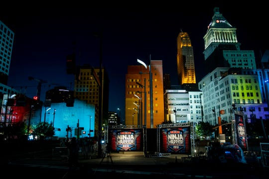 """American Ninja Warrior"" is filmed on Second Street in downtown Cincinnati Friday, May 24, 2019."